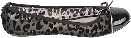 Twists Butterfly Leopard Ballerinas Olivia Womens Shoes Flocked Black Flats gdPnSOdrq