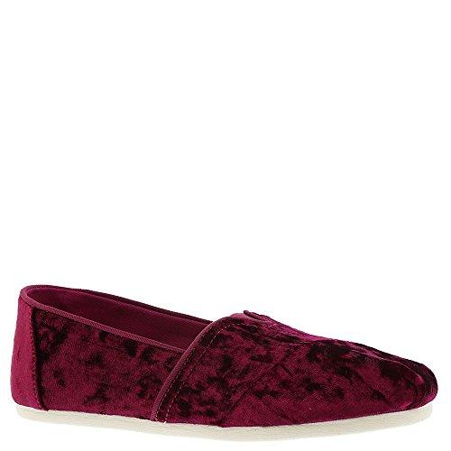 TOMS Black Cherry Velvet Women's Classics Slip-On Shoes - Size 9 (8.5 B(M) US)