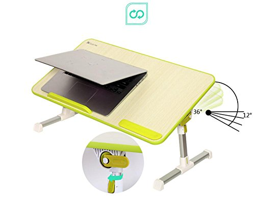 Muzyo Computer Desk Desk Lazy Person Notebook Computer Bed Up Desk Foldable College Dormitory Writing Small Table, 4 by Muzyo (Image #1)