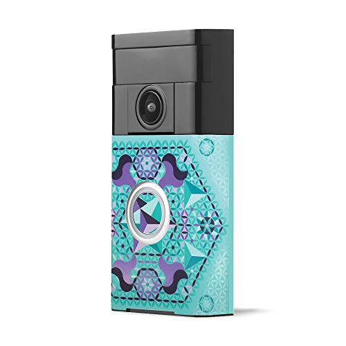 Skin for Ring Video Doorbell - Pastel Hexagon   Protective, Durable, and Unique Vinyl Decal wrap Cover   Easy to Apply, Remove, and Change Styles   Made in The USA