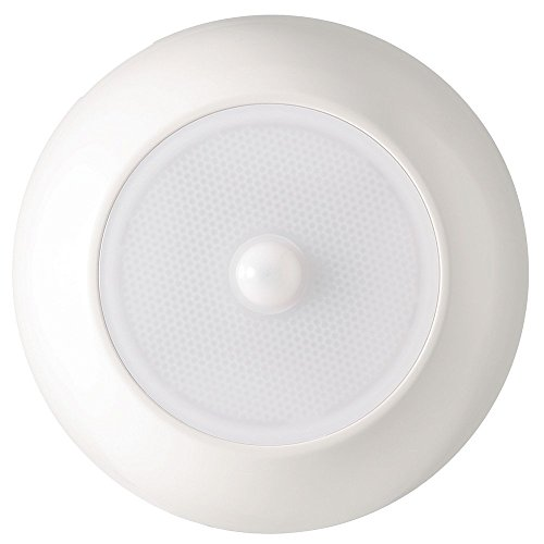 Mr. Beams MB990 UltraBright Wireless Battery Powered Motion Sensing Indoor/Outdoor LED Ceiling Light, 300 Lumens, White