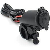 UXOXAS 12V MOUNTED Motorcle Handlebar Cigarette Power Socket CHAU01