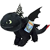 Toothless Night Fury 40cm Noir Peluche Original Dragons How to Tran Your Dragon 3 Glow in The Dark