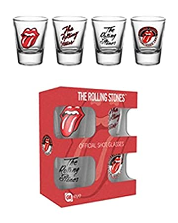 Officially Licensed The Rolling Stones Shot Glasses 4 Pack