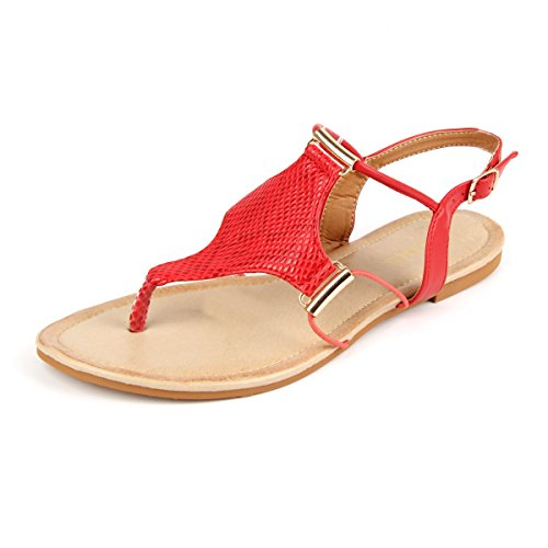 sandals red - 5