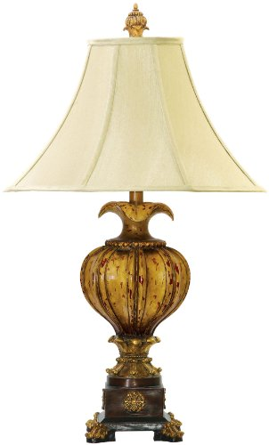 Dimond Lighting 93-449 18 by 30-Inch Leaf Footed Urn 1-Light Traditional Table Lamp