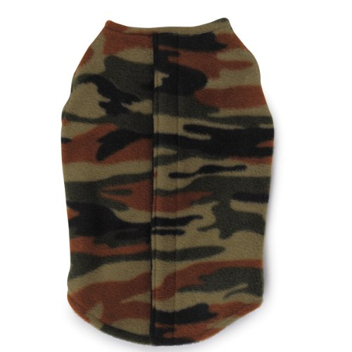 Large Zack & Zoey Polyester Printed Fleece Dog Ripstop Chest Vest, Camo, Large
