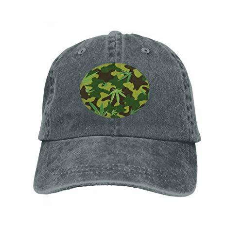 YILINGER Adjustable Cotton Hat Fashion Cotton Denim Baseball Cap Cannabis cammo Camouflage Leaves eps CMYK Global Colors Vari Carbon