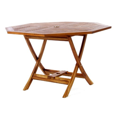 Octagon Patio Table - All Things Cedar TO48 Teak Octagon Patio Table