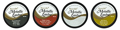 METALLIC LUSTRE 4 COLOR HOME DECOR SAMPLER SET