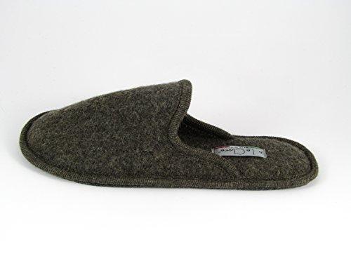Pantofole da Donna Invernali Tinta Unita Marrone