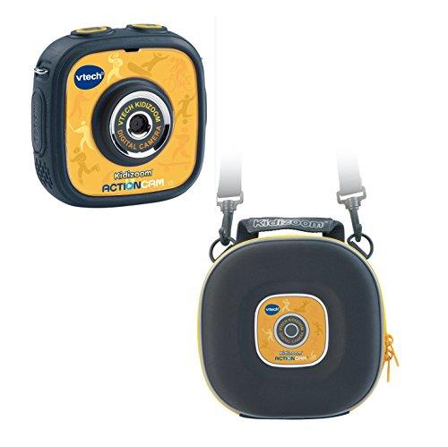 VTech 80-170794 - Kidizoom Action Cam mit Tragetasche, gelb/schwarz