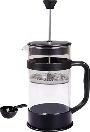 Utopia Kitchen French Coffee Press (Black) - 34 oz Espresso and Tea Maker with Triple Filters, Stainless Steel Plunger and Heat Resistant Glass