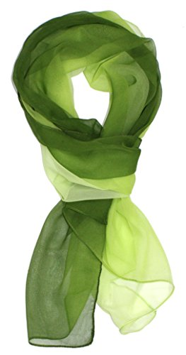 Ted and Jack - Silk Ombre Lightweight Accent Scarf in Greens