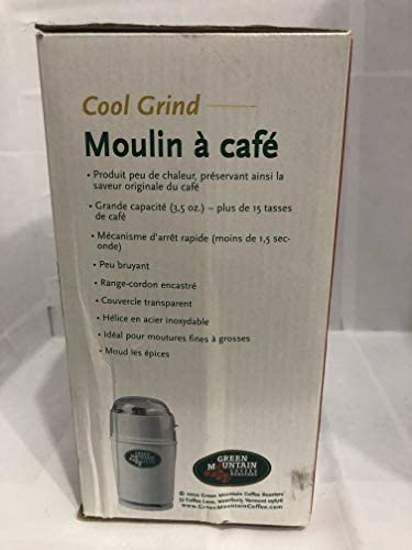 Green Mountain Coffee, Capresso 501 Cool Grind Coffee Grinder, White