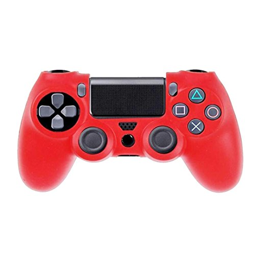 Price comparison product image Clearance !  Ninasill  Exclusive Soft Silicone Case Cover For Playstation PS4 Controller (Red)