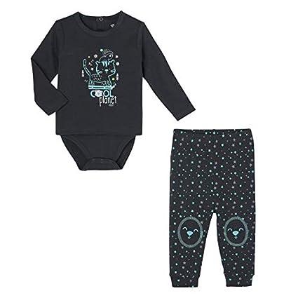 23864f2930173 Petit Béguin - Ensemble bébé garçon body T-shirt + pantalon Cool Planet -  Taille