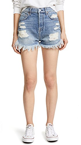 7 For All Mankind Women's High Waist Cutoff Off Short With Scallop Hem, Vintage wythe 4, (7 For All Mankind Vintage Jeans)