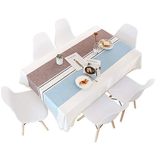 A 130180cm AJZXHE Nappe de tissu de coton et de lin, simple nappe de salle à hommeger de table tissu de couverture de tissu de table basse Nappe (Couleur   A, taille   130  180cm)