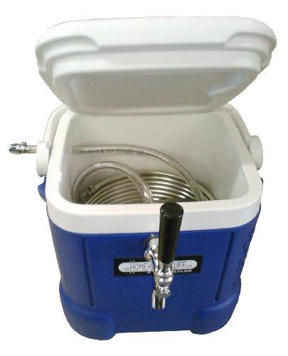 HomeBrewStuff Mini Jockey Box Draft Beer Dispenser Stainless Steel Coil Chiller ()