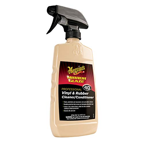 Meguiar's Mirror Glaze Vinyl & Rubber Cleaner/Conditioner - Restores Life and Color - M4016, 16 oz