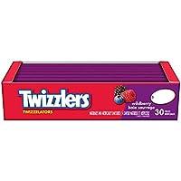 TWIZZLERS Licorice Candy, Wildberry Twizzelators, 30 Count