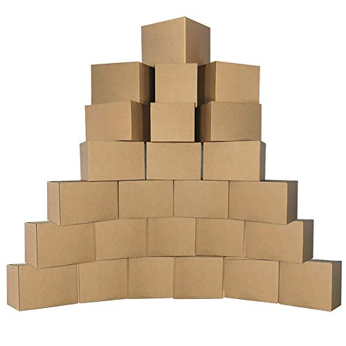 - Schliersee Shipping Corrugated Boxes Mailers 6x6x6 Inch, Kraft Shipping Boxes Pack of 25