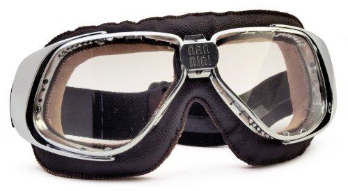 Nannini Anti-Fog Rider Motor Goggles (Chrome/Black Grey) by Nannini