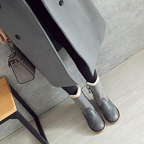 43 Mujer Nieve Gray Zapatos De Caliente Nieve Algodón Botas Grueso Invierno Fondo Bota black Felpa OtdF6gxqgw