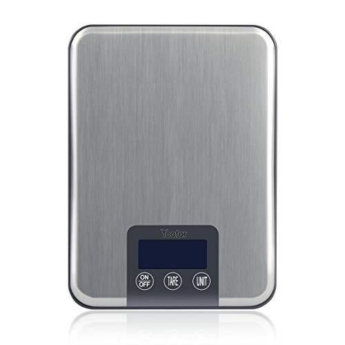 (Youfo) Yoofor digital cooking scale stainless steel top plate 15kg 1g unit business for Silver