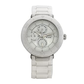 Fossil Women's CE1000 Ceramic Multifunction White Dial Watch