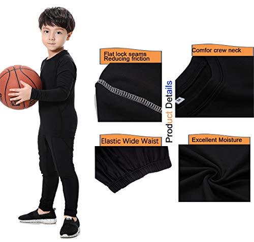 9cc67d2b08 Kids Base Layer Set Compression Long Sleeve Shirts and Pants ...