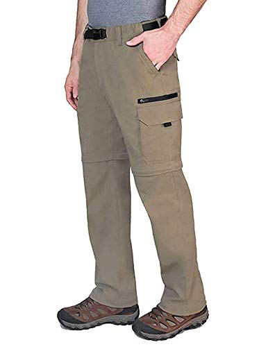 BC Clothing Mens Convertible Lightweight Comfort Stretch Cargo Pants or Shorts (Sand, XL x 32) from BC Clothing