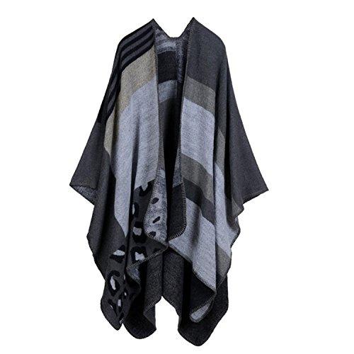 bufanda cubierta Cape mujer Tiles Poncho Oto 07 Hot Shawl elegante Aibayleef Vintage o Color Knit Invierno nWAxqHwBYX