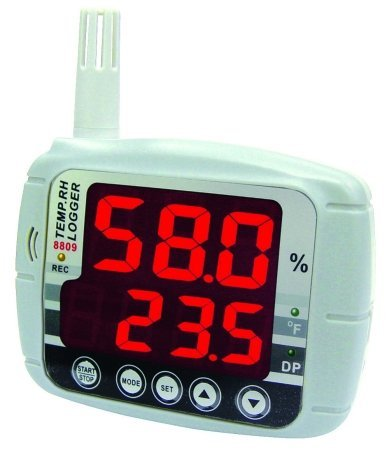 General Tools LTH8809DL Temperature & Humidity Monitor with Data Logger by General Tools