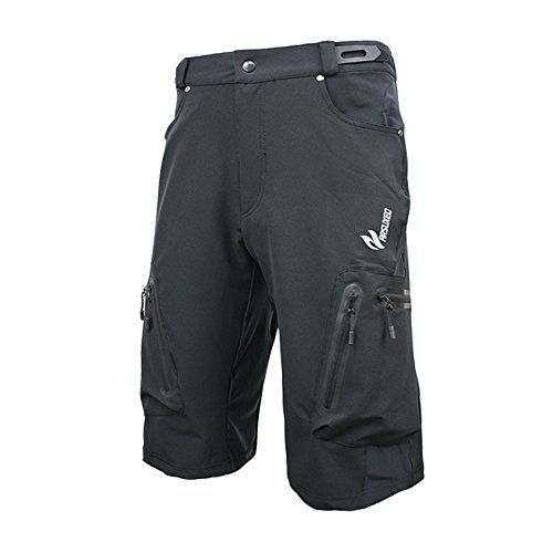 ARSUXEO Outdoor Sports MTB Cycling Shorts Black Size