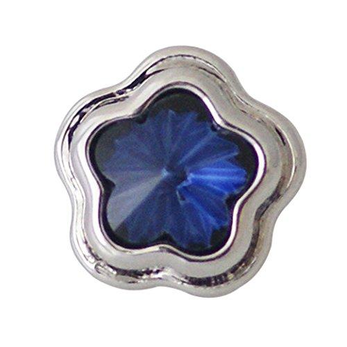 Chunk Snap Charm Dark Blue Stone Center Mini Petite 12mm 1/2