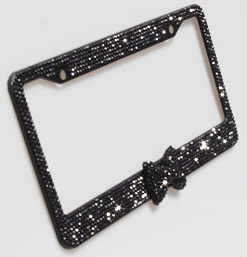 license plate frame bling bow - 5