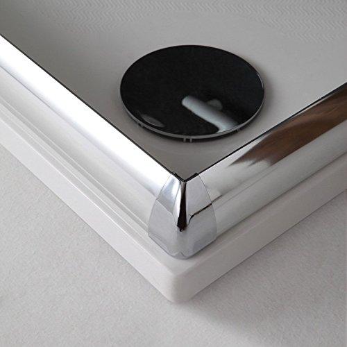 BOX DOCCIA MODELLO GIADA 80X80 CRISTALLO TRASPARENTE 6 MM: Amazon ...
