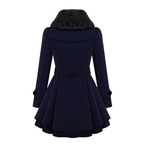 Tenue Long Hiver La Zycshang De Veste Bleu Femme Épais Pardessus Parka Les Extérieur Manteau Chaudes Femmes Slim ZWAq7p