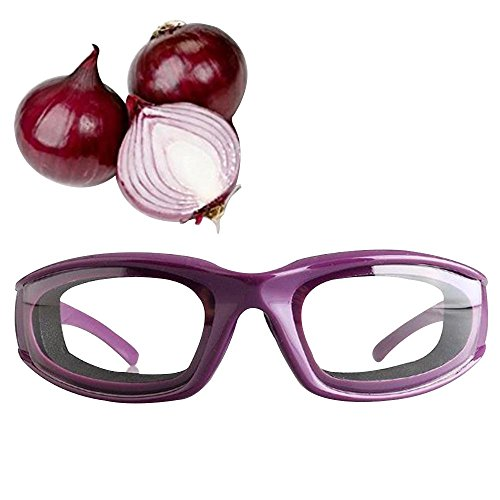 Happy Hours - Kitchen Tools Premium Tear Free Onion Goggles Slicing Cutting Chopping Mincing Eye Protect Onion Glasses(Purple)