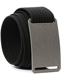Belts Adjustable Nylon Aluminium No Holes Men's Classic Belt