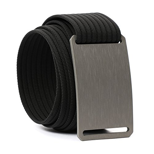 GRIP6 Men's Belt Classic Series, Adjustable Nylon Webbing Strap w/Aluminium Buckle
