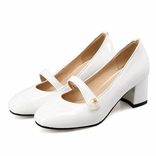 Shoes Heels White Clasic TAOFFEN Court Women's qwnF0cS7