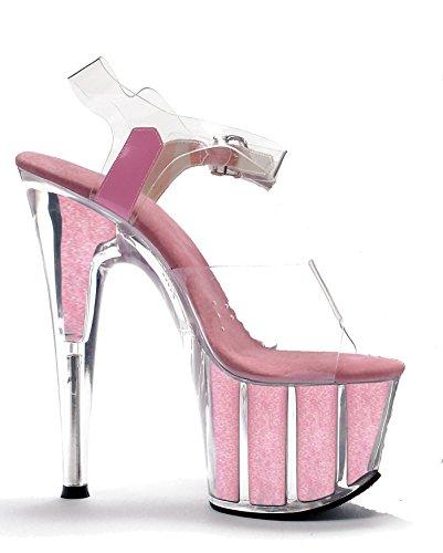 Ellie Schoenen Womens 709-glitter 7-puntige Stiletto Sandaal W / Glitter In Platform
