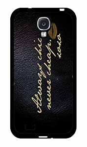Always Chic but Never Cheap 2-Piece Dual Layer Phone Case Back Cover Samsung Galaxy S4 I9500