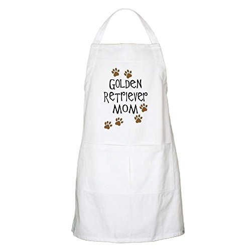 CafePress Golden Retriever Mom BBQ Kitchen Apron with Pockets, Grilling Apron, Baking Apron