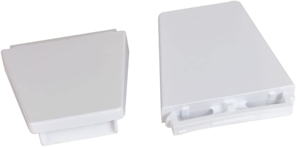 Whirlpool 4318297 Refrigerator Door Shelf Rail End Cap (White) Genuine Original Equipment Manufacturer (OEM) Part White