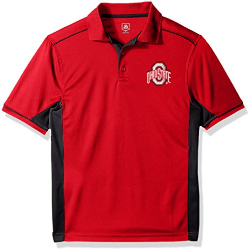 - J America NCAA Ohio State Buckeyes Men's Every Day Polo, Small, Red/Black