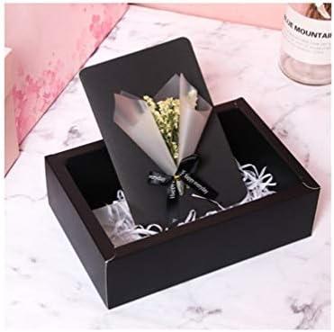 بطاقة تهنئة مبتكرة من Xiao بطاقة هدايا عيد ميلاد مبتكرة بطاقة هدية صغيرة لعيد الميلاد هدية عيد ميلاد عيد الحب أرسل لصديقتك الزهرة الكلاسيكية المجففة يوم سعيد أسود Amazon Ae